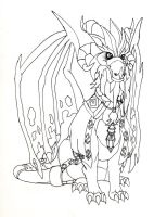 Chronicler ink and pencil by NightBlueSky