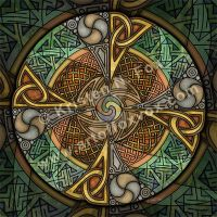 Celtic Aperture Mandala by foxvox