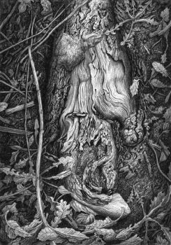 Wooden purgatory - pencil by CalciteMink1610