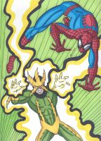 Spider-Man vs Electro by RobertMacQuarrie1