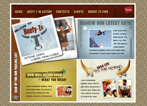 Hanes Beefy-T Website by ZGDA