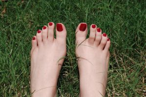 Feet in the Grass by MarilynFaye