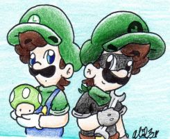 Luigi and Mr. L by BabyAbbieStar