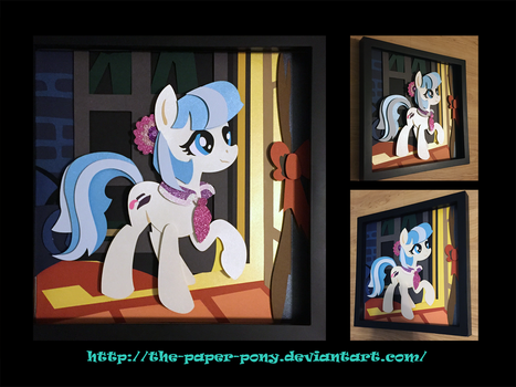 12x12 Coco Pommel Shadowbox by The-Paper-Pony