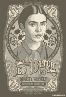 Old Bitch Label by roberlan