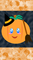 Halloween Pumpkin iPhone Wallpaper 2 by MikariStar
