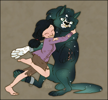Commission: Hugs for the Malcontent by NattiKay
