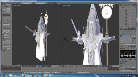 The floating Sir Tower wip by Agura-Nata