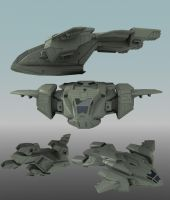 Halo movie : Pelican model by Capestranus
