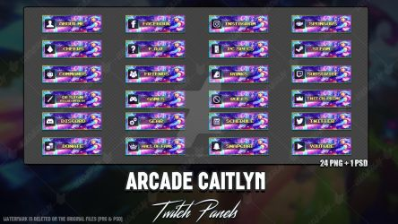 Arcade Caitlyn - Twitch Panels by LoL-Overlay