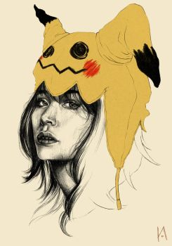 Mimikyu Hat by charonmncr