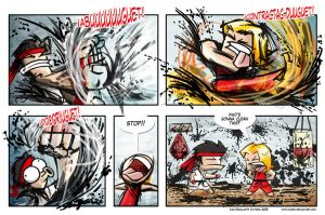 Street Fighter 4 strip by ivanev