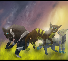 Voidwish, Foxdash, and Ruesky by SimplyMisty