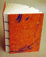 Orange Coptic Journal by mouse2cat