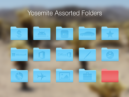 Assorted OS X Yosemite (10.10) Folders by BlackVariant