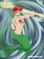 Ariel gender bend by Geioji