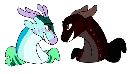 Lovebirds by i-draw-dragon-things