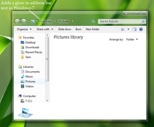 Adressbar text glow for Win 7 by nopd11
