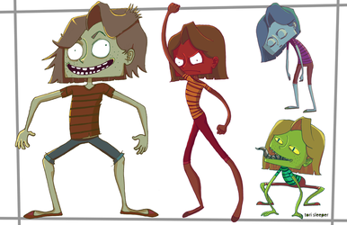 Monsters colored by Torsle