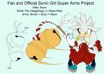 SonicSuperArmsProject  Silver the Hedgehog(DesignT by skyshek