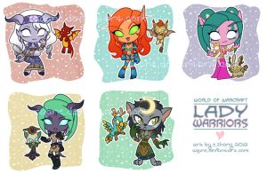 Lady Warriors by arcuate