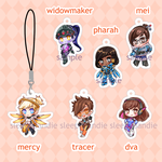 [ chibi ] (added more!) overwatch girls charms by sleepypandie