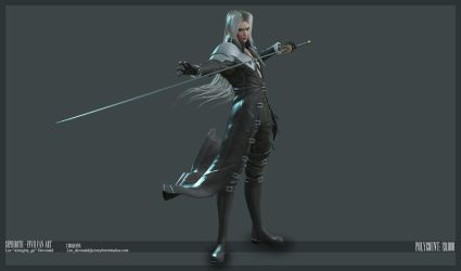 Sephiroth - Final with jacket... again. by Almightygir