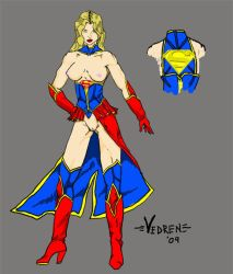 Erotic Earth Supergirl by Vedren