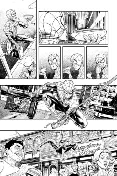 Spider-Man Lunch Saga page 1 by drawerofdrawings