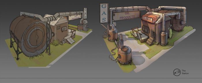 Gas Station by norbyscook