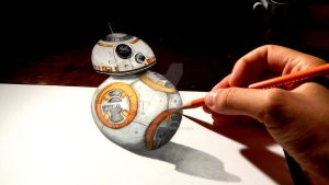 Star Wars BB8 anamorphic drawing  by OMKDrawings