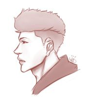 Dude Side Profile by CrazyCrepe18