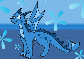 Baby Water Dragon by Dragonqueen316AJ
