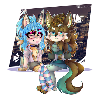 What are you doing here?  .:- Art Trade -:. by flame-finn-marce