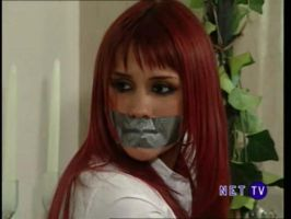 Maria Dulce tape gagged by BondageKing17