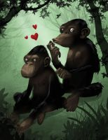monkeyLove by Hominids
