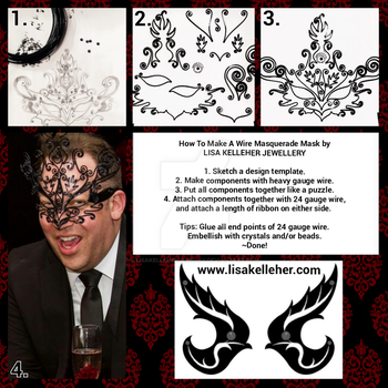 How To Make A Black Wire Phoenix Masquerade Mask by LisaKelleherJewelry