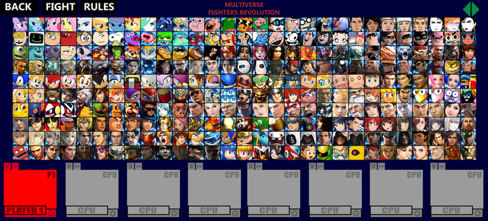 Multiverse Fighters Revolution Roster (Page 4) by SuperMaster10