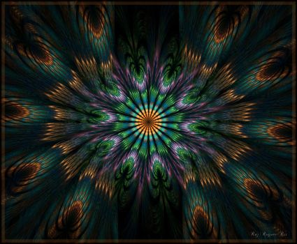Funky Peacock by Rozrr