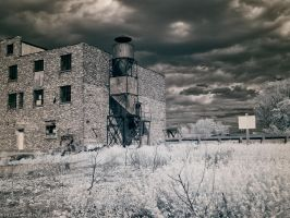 Abandoned by the Grand River (IR) by KBeezie