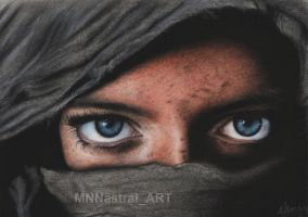 Retrato ojos - Potrait of eyes by MNNastraiART