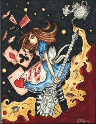 Alice Madness Returns - Copic Painting by tomgirl227