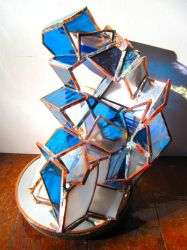 Decadent stained glass sculpture 2 by kakodrake