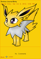 Updated Jolteon Journal Skin by AbyssinChaos