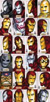 IRON MAN sketch cards - 1 of 3 by grantgoboom