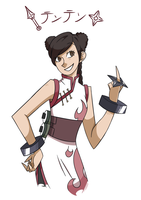 Tenten from the last by Cyanela
