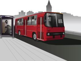Ikarus Bus- RED by Imperatore34