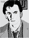 David Tennet Dr Who Typography Art by kwhammes