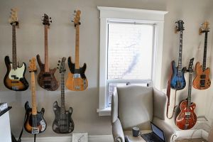 The Wall of Rock: Basses by basseca