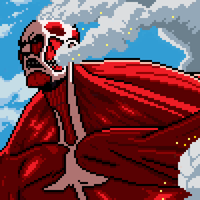 Attack On Titan Skinless pixel art by PXLFLX